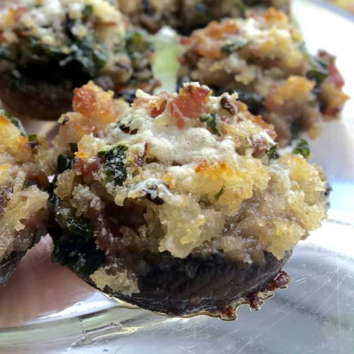 Aunt Virginia's Bacon and Onion Stuffed Mushrooms