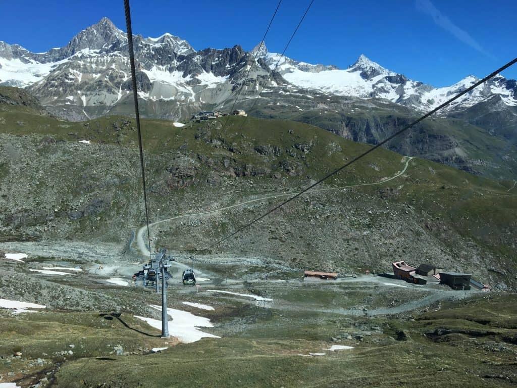 Zermatt gondola view