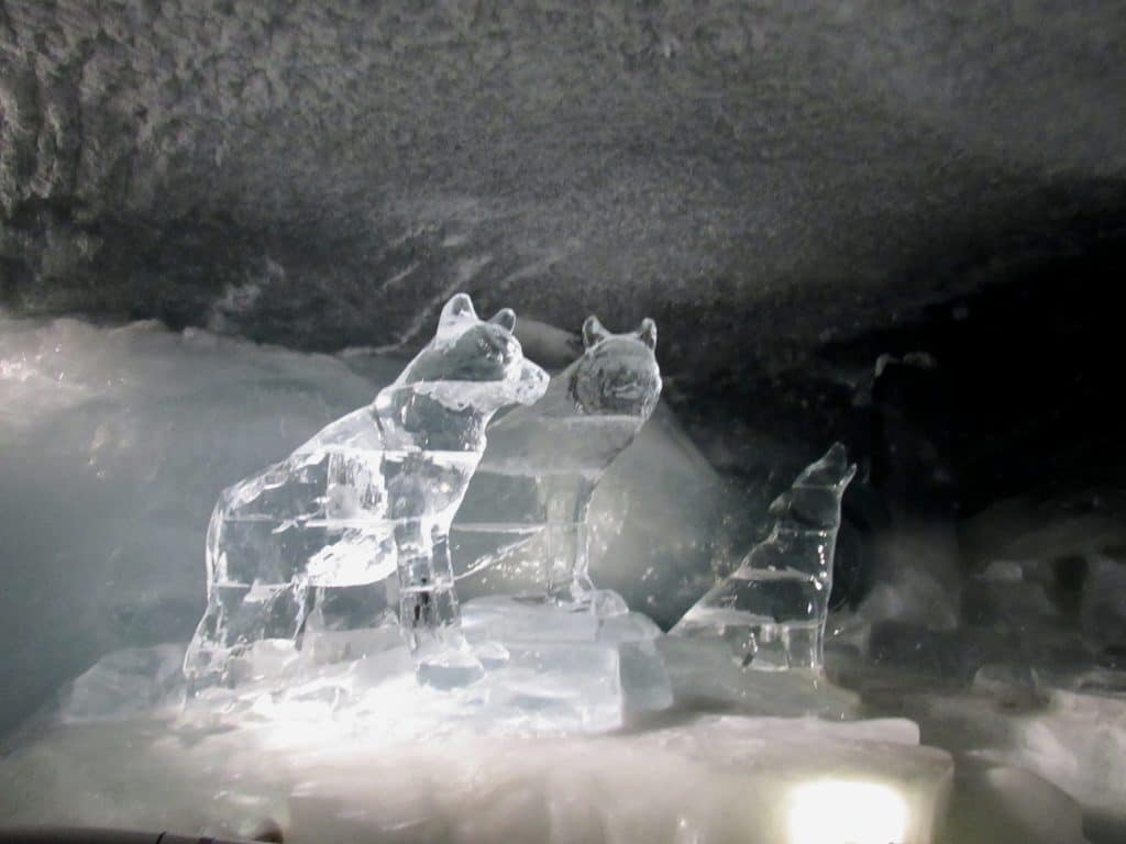 Ice sculpture Glacier Paradise