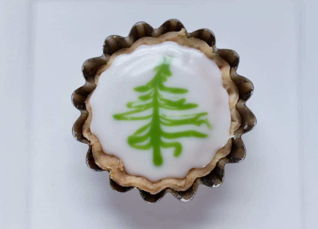 Christmas tree fern cakes