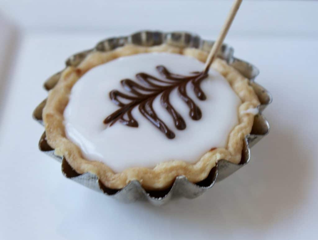 Drawing a Fern on Scottish Fern Cakes