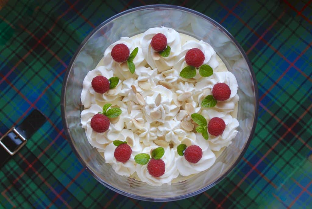 Typsy Laird Scottish Trifle for a Burns night menu