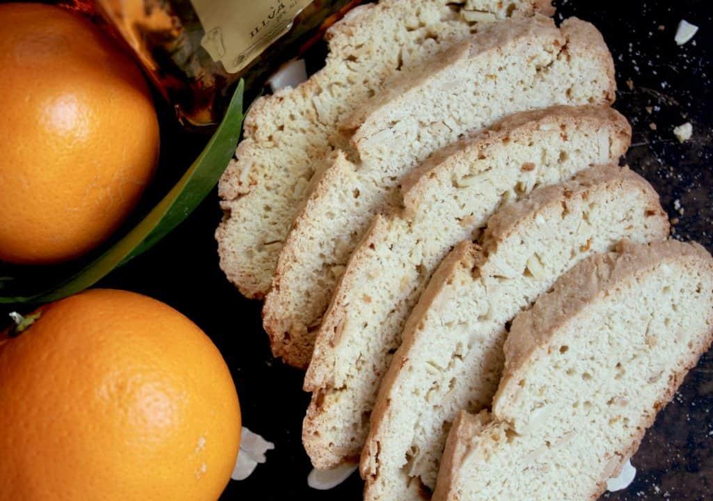 Almond and Orange biscotti