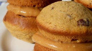 Pumpkin Whoopie Pies with Dulce de Leche Filling for OXO's Bake a Difference with Cookies for Kids' Cancer