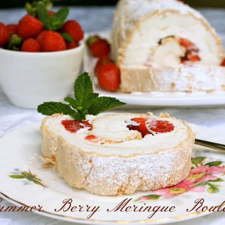 Summer Berry Meringue Roulade