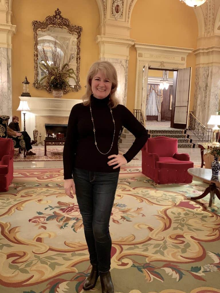 Christina at the Hermitage Hotel