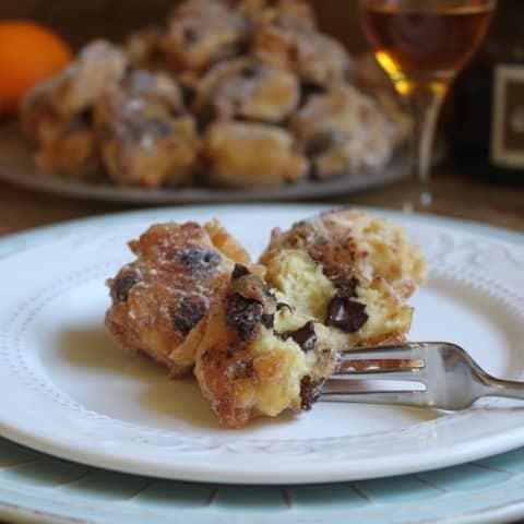 ricotta doughnuts on a plate