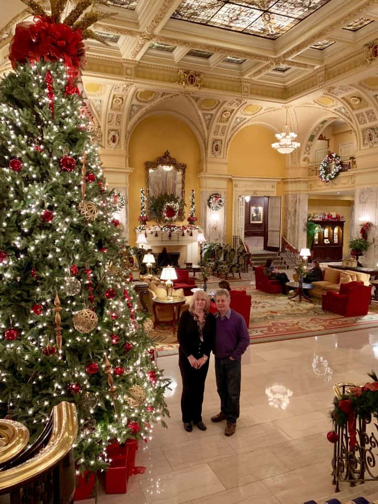 Christmas decor at the Hermitage Hotel, Nashville