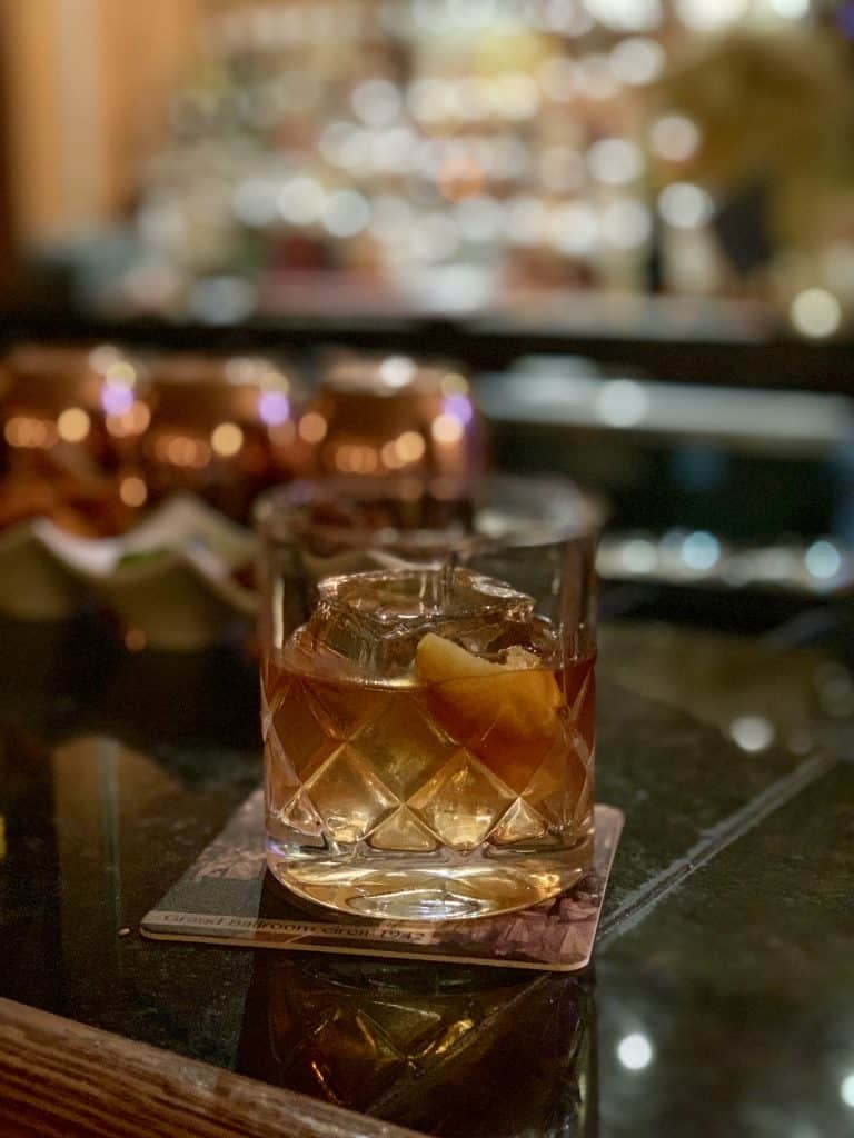 Old Fashioned cocktail at the Oak Bar in Nashville, Tennessee