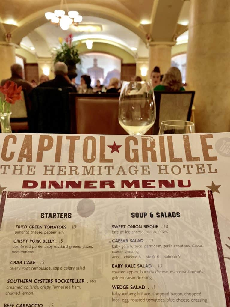 Capitol Grille menu