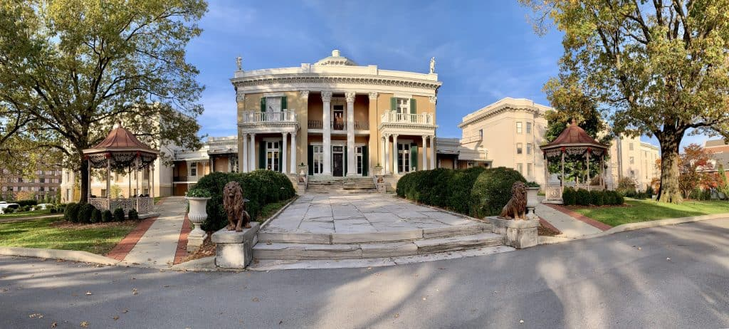 Panoramic shot of Belmont Mansion