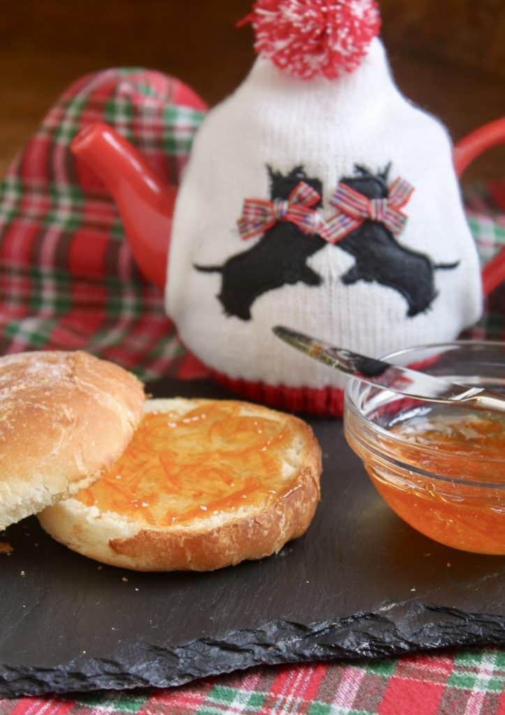 Scottish marmalade on a roll