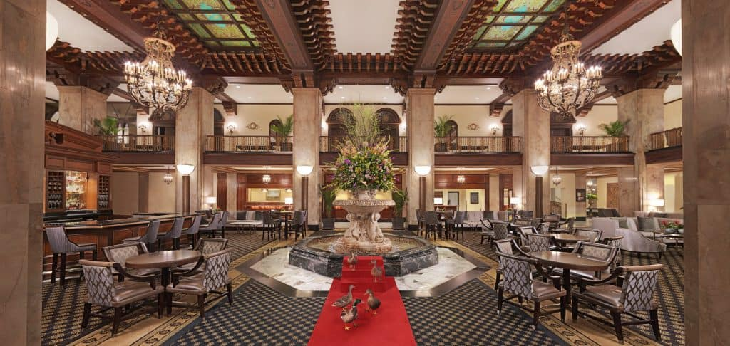 Lobby of the Peabody Hotel