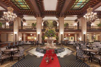 Lobby of the Peabody Hotel