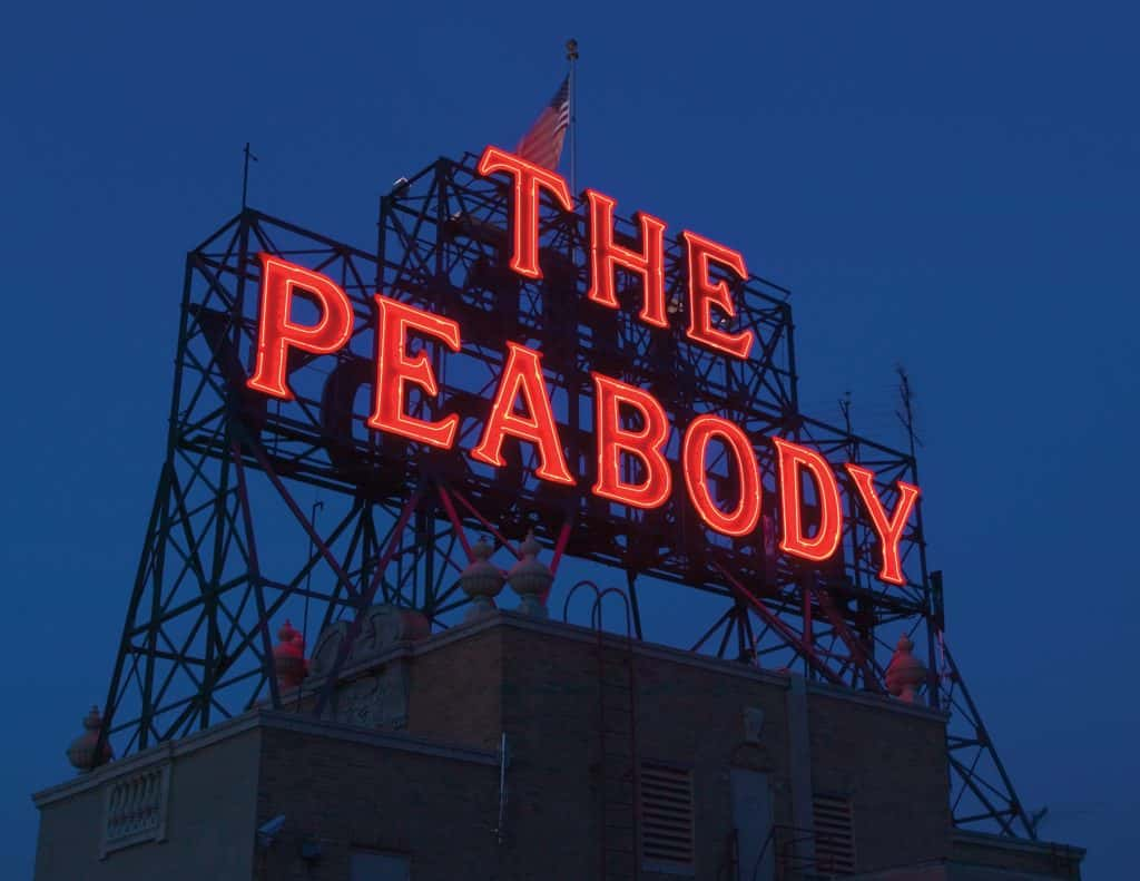 Peabody rooftop sign