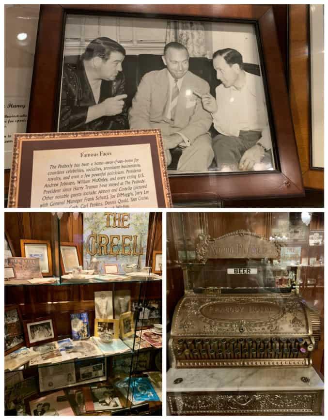 Memorabilia at the Peabody Hotel