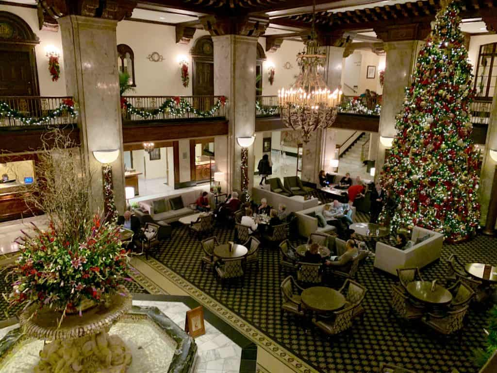 Peabody Hotel at CHristmas