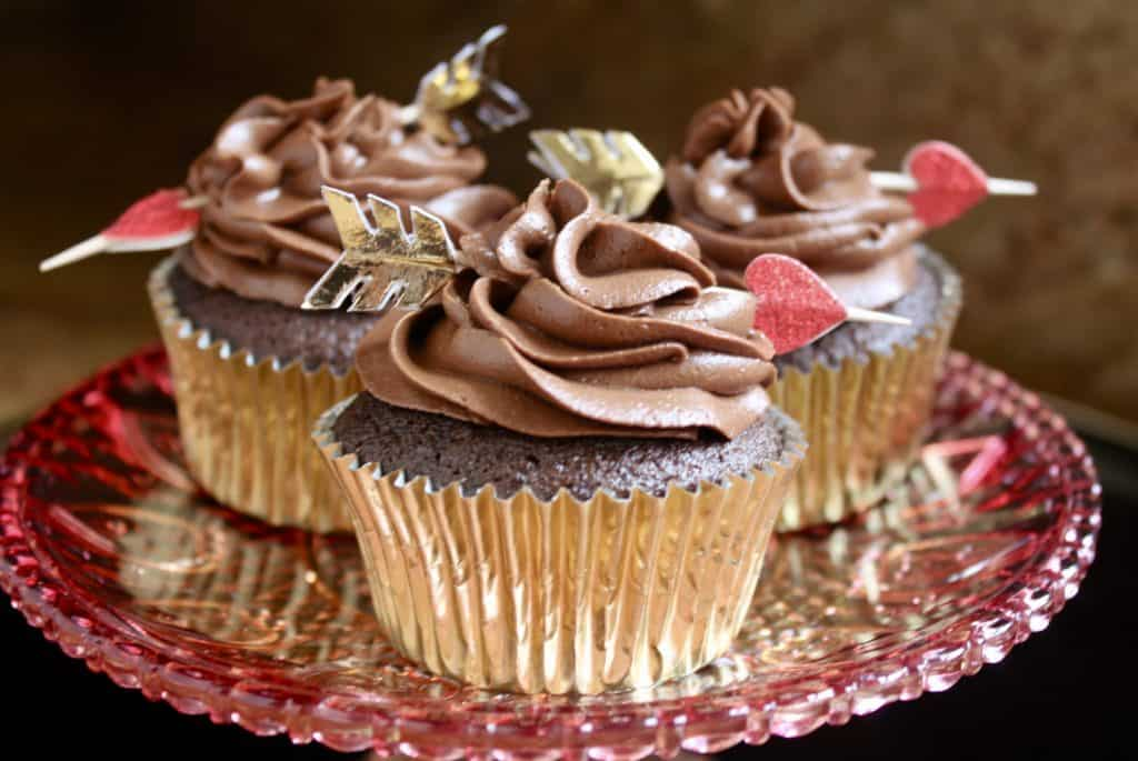 Chocolate truffle cupcakes with mocha buttercream icing