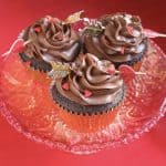 Chocolate Truffle Cupcakes with Mocha Buttercream Frosting for Valentine's Day