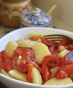 Italian style potato and red pepper salad