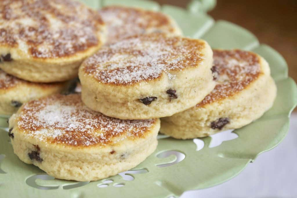Welsh Cakes on a serving tray