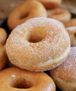 pile of vegan doughnuts
