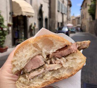 Porchetta panini in Orvieto