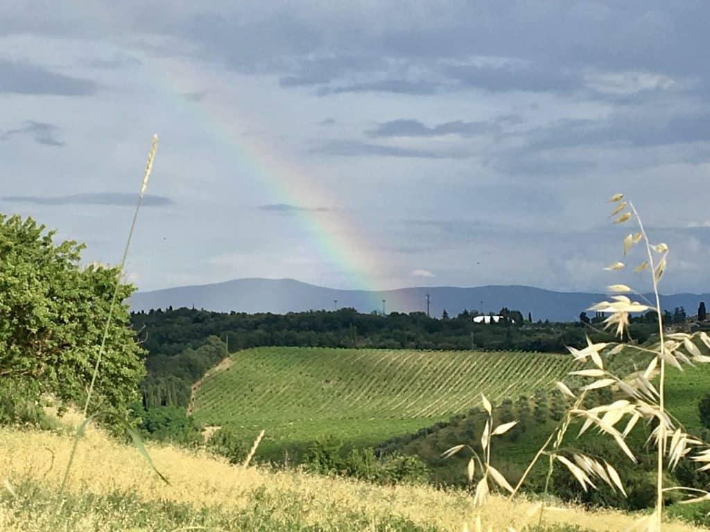 San gimignano to siena rainbow