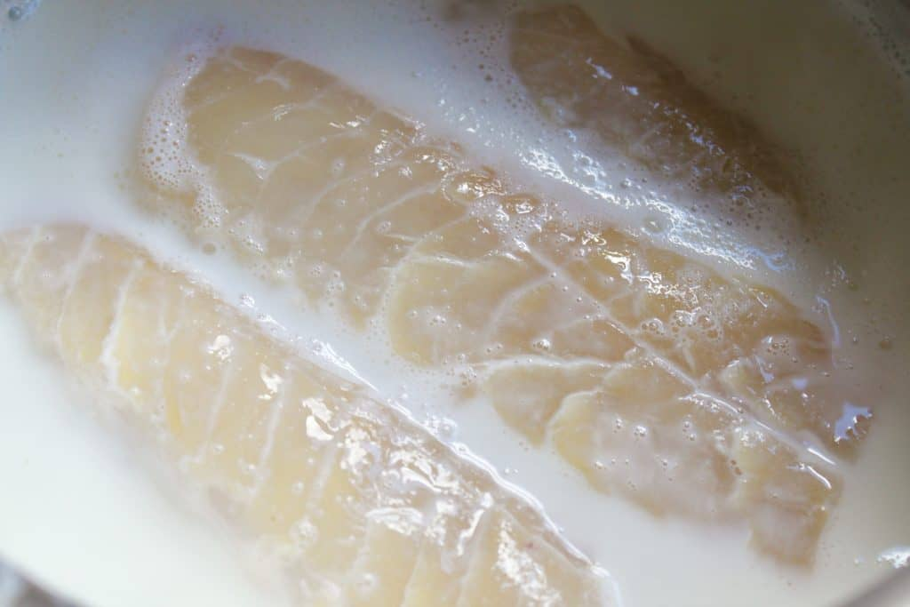 Smoked haddock in milk