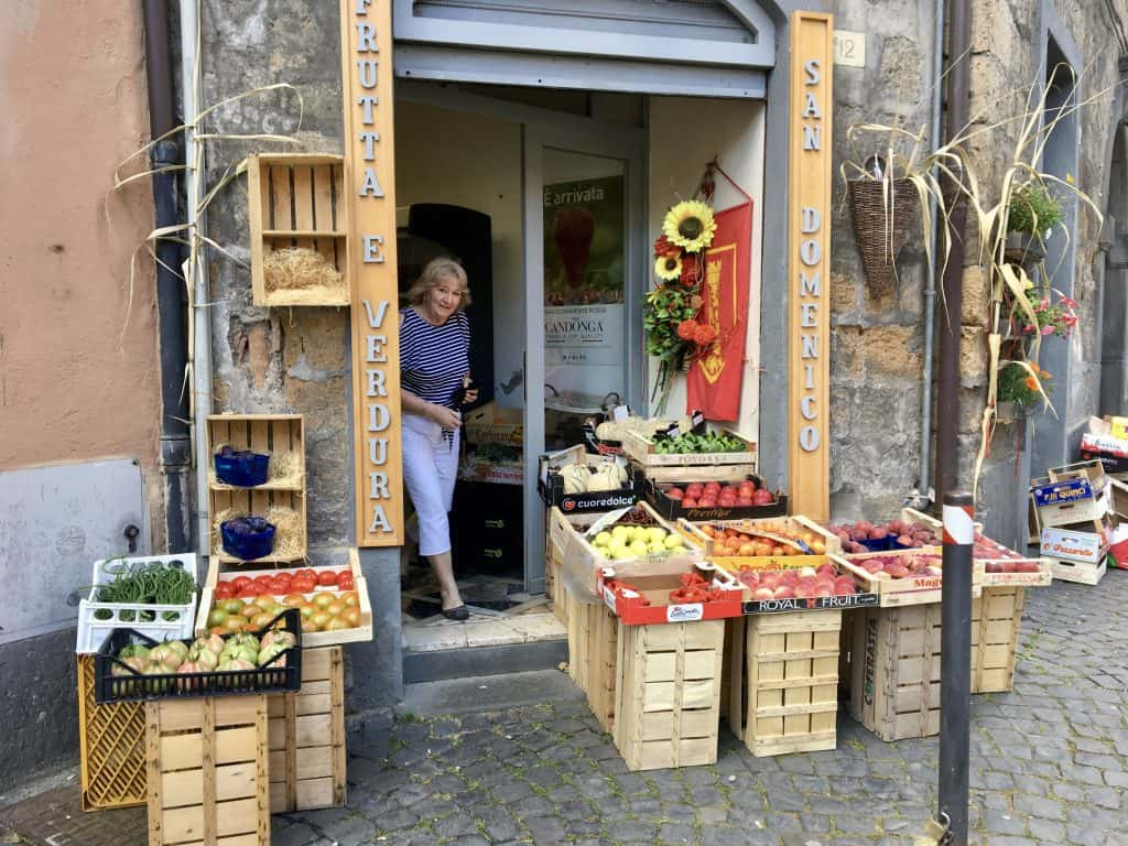 Fruitshop in Orvieto, Italy