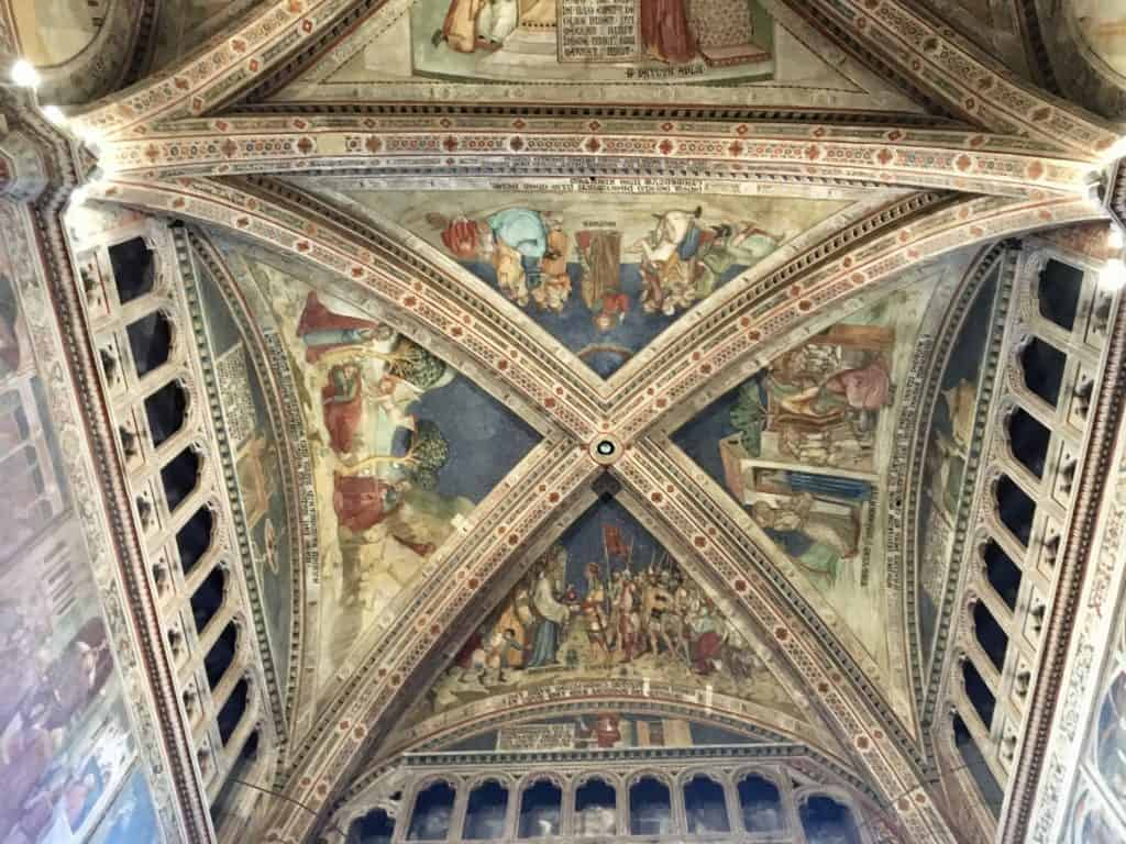 ceiling of the Duomo in Orvieto