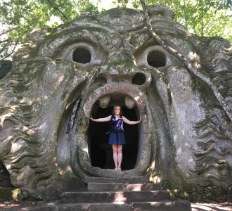 Christina at Bomarzo Monster Park
