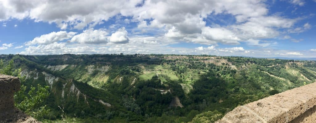view from Civita di Bagnoregio