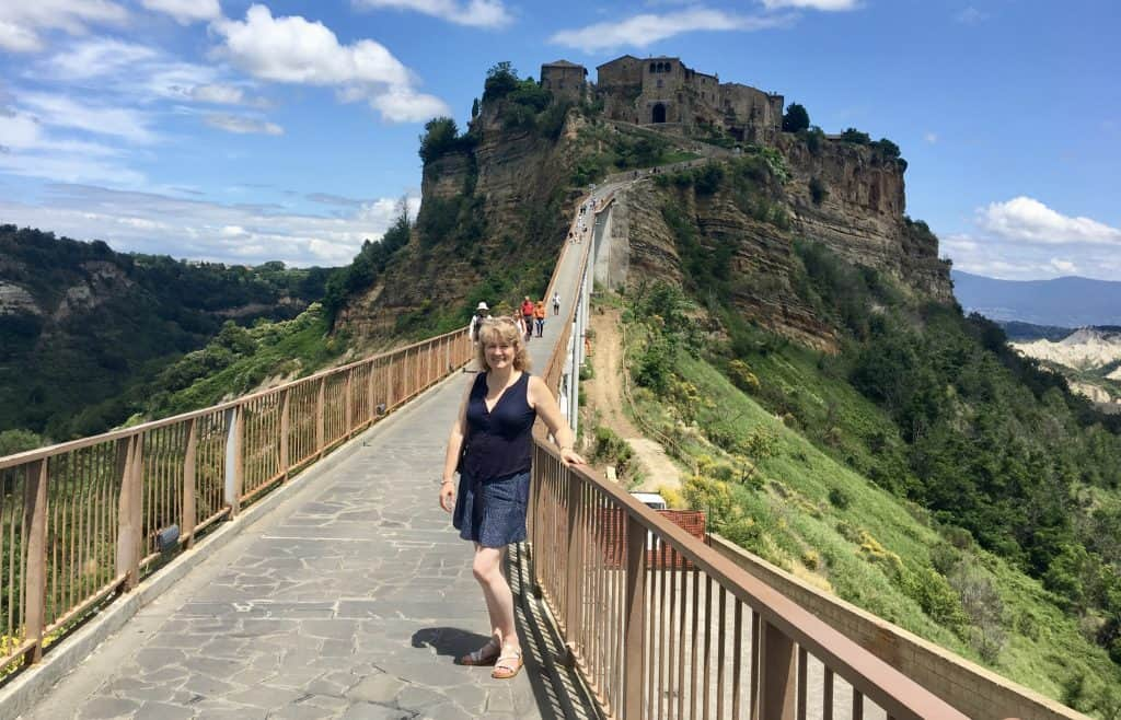 Bridge to Civita di Bagnoregio Christina