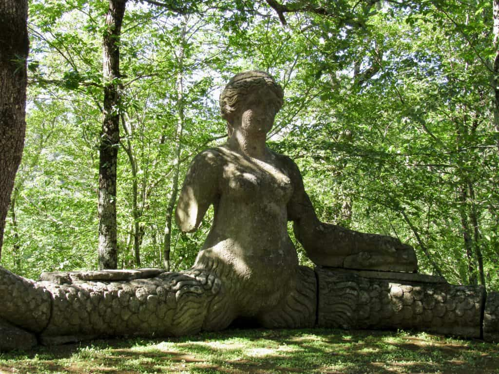 statue at Bomarzo Monster Park