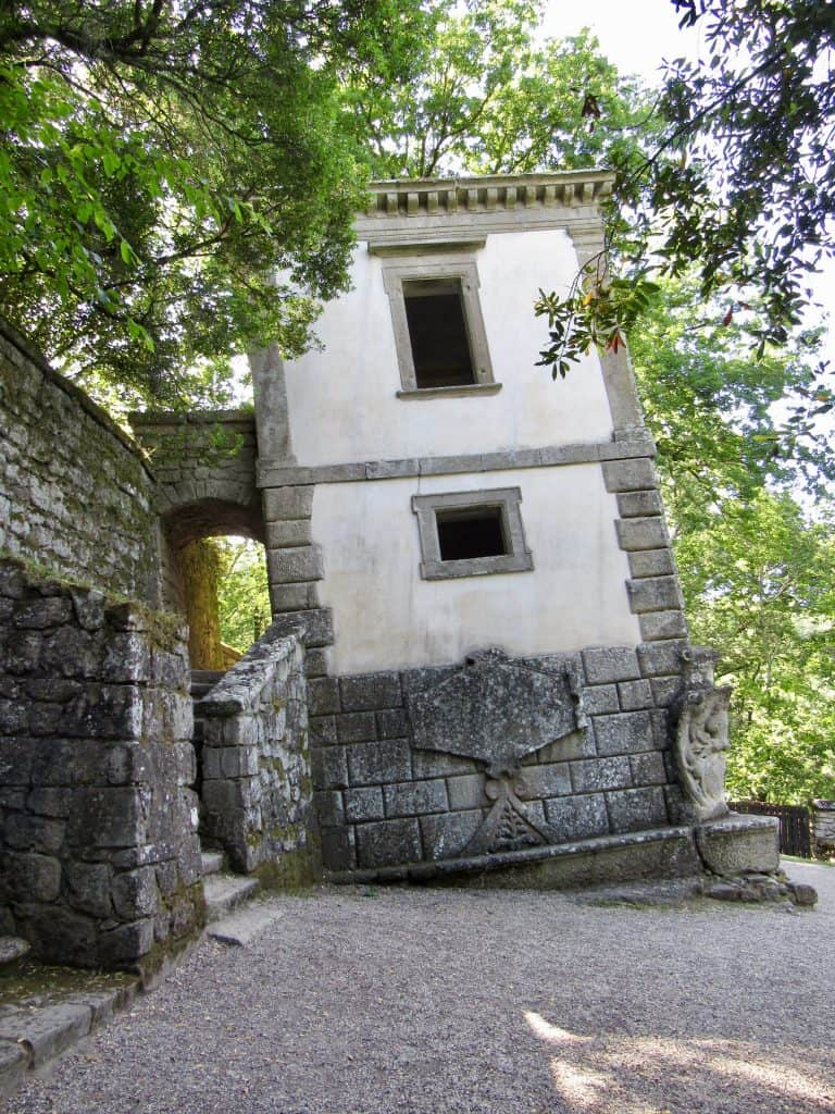 Tipsy house at Bomarzo Monster Park