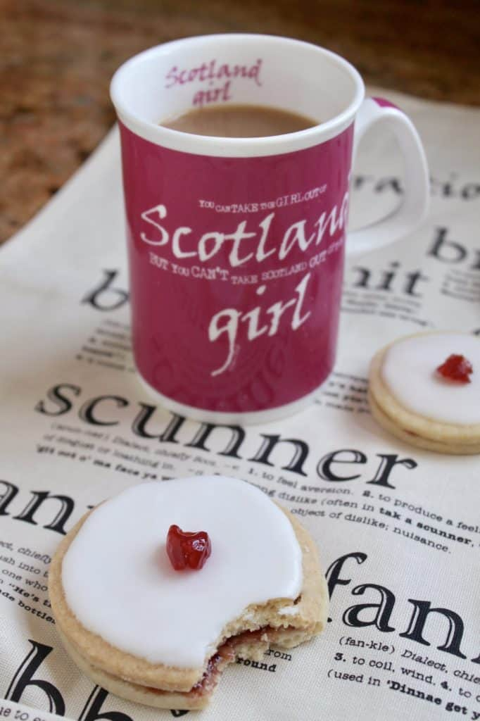 Empire biscuits and a cup of tea