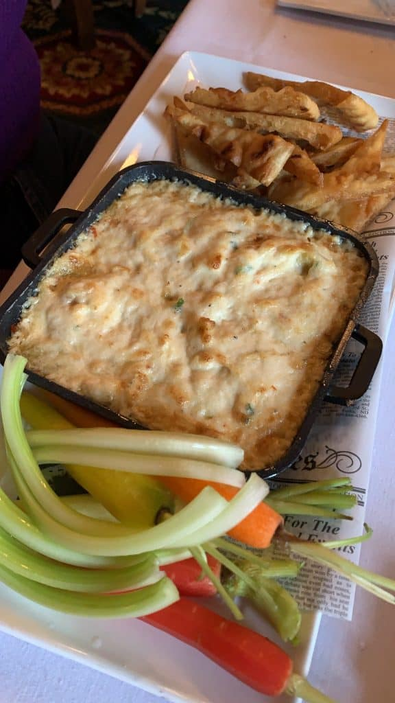 crab dip at Union Station Hotel