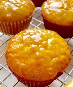Glazed kumquat cupcake