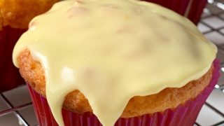 Kumquat Cupcakes with  Orange Glaze or Icing