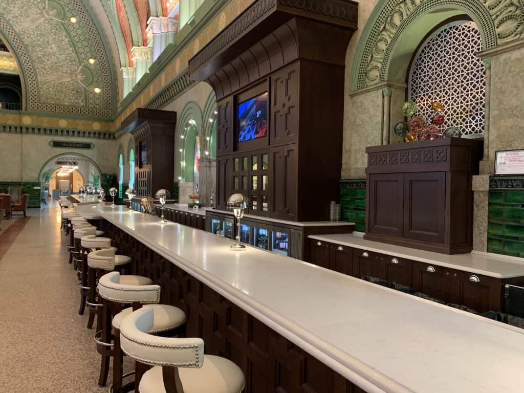 bar at the St Louis Union Station hotel