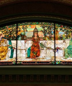 Stained glass in the Union STation Hotel st louis