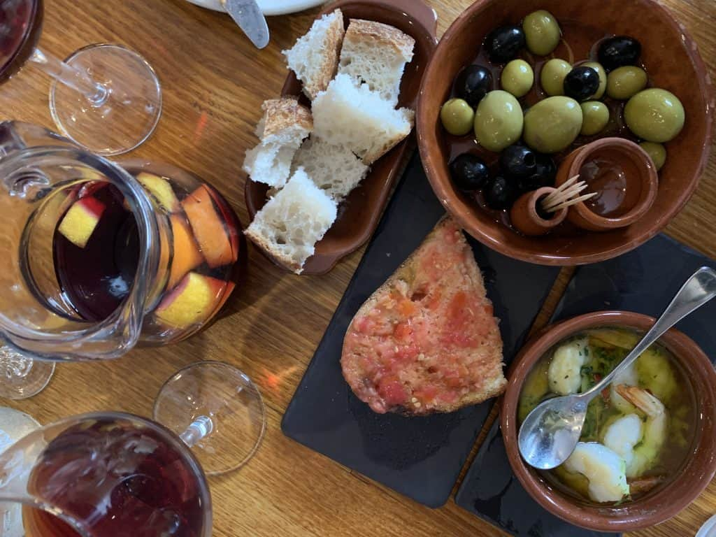 Tapas on a table