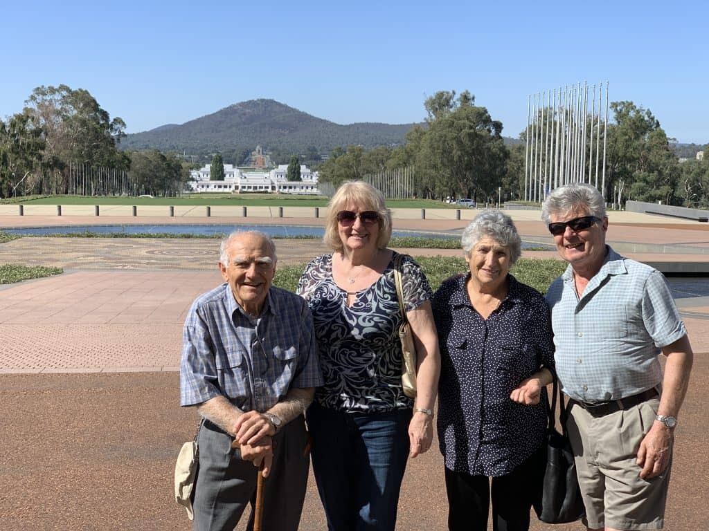 Canberra with family