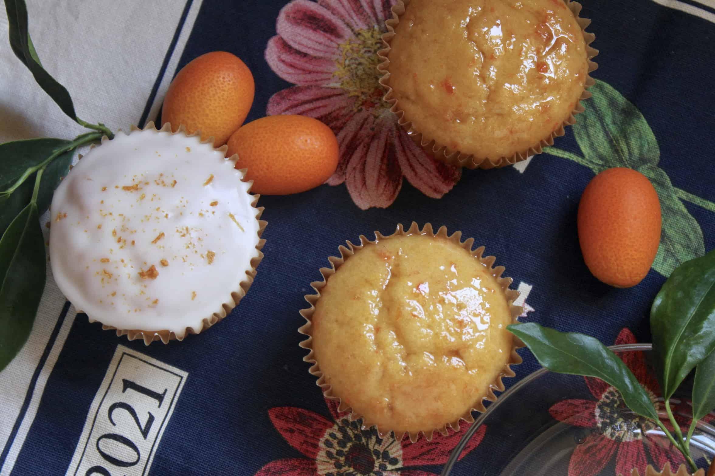 kumquat cupcakes overhead