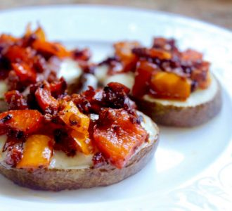 Potatoes chorizo and cheese