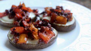 Potatoes with Chorizo and Cheese (Patatas con Chorizo y Queso) - A Spanish Tapas Recipe