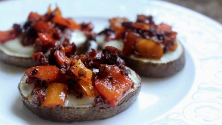Potatoes with Chorizo and Cheese (Patatas con Chorizo y Queso) - A Spanish Tapas Recipe