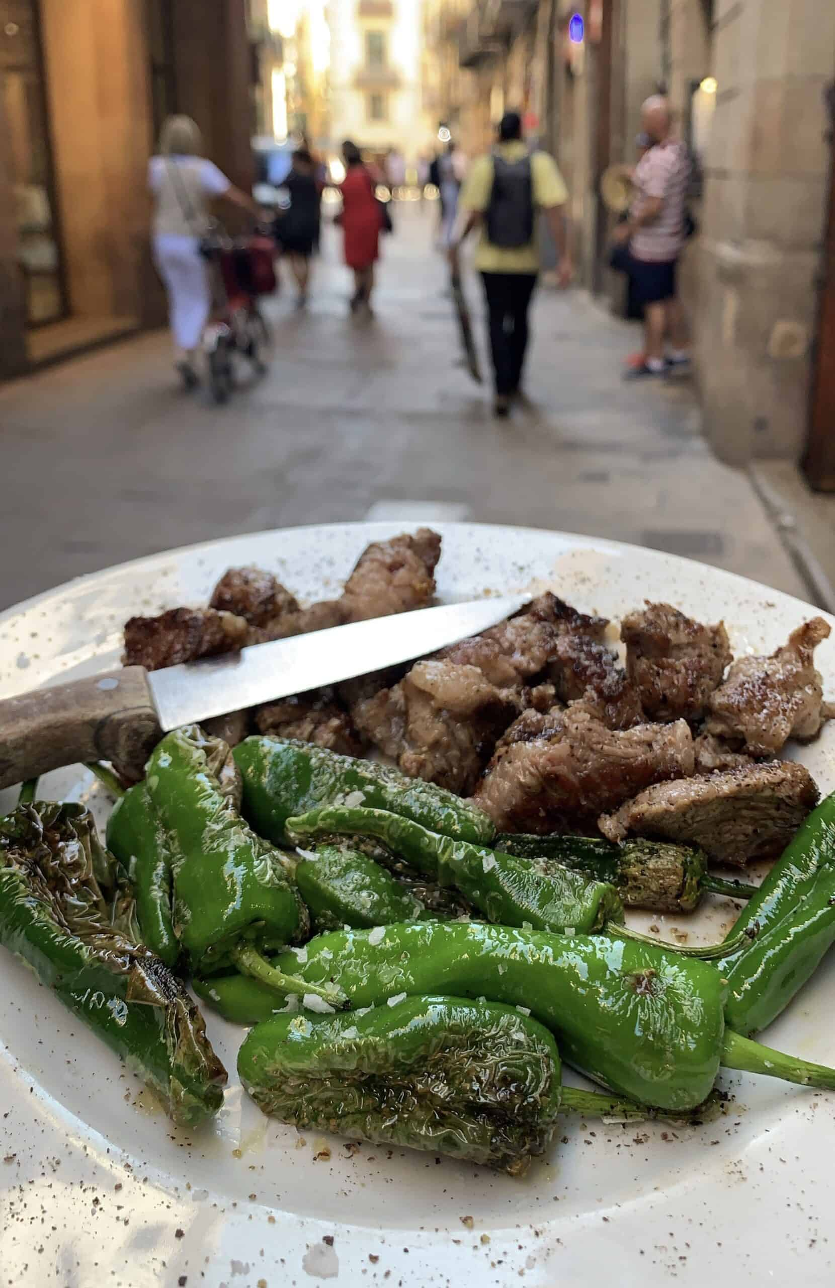 padron peppers and pork