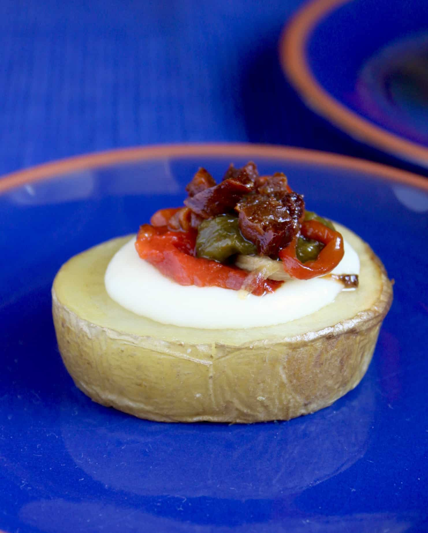 chorizo and potato tapa